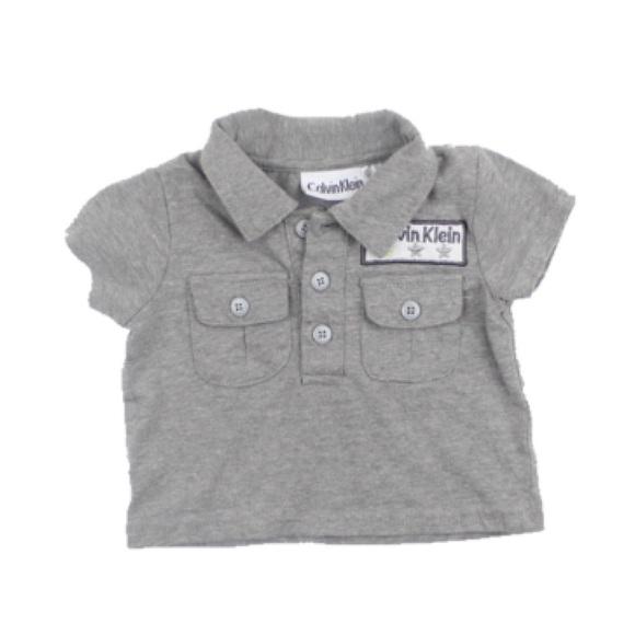 🔆3/$15 Calvin Klein Polo Shirt, Size 0-3 Months